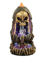Geode Skull Back Flow Incense Burner w/ LED