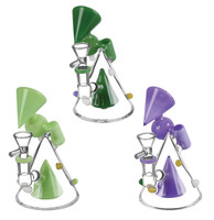 "Geometric Side Car Waterpipe - 6"" / 14mm Female / Assorted"