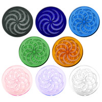 Glass Coin Spinner Channel Carb Cap | Wholesale Distributor