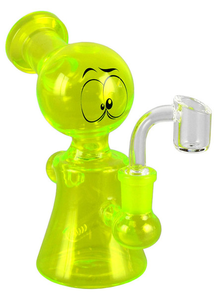 Glass Eyes Oil Rig Waterpipe - 6"