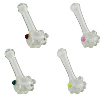 "Glow Hand Pipe w/ Marbles - 4.5"" / Asst Accent Colors"