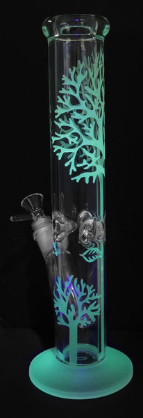 "Glow in the Dark Tree Water Pipe - 13.5""/14mm Female - AFG"
