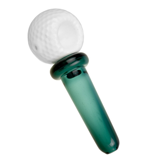 Golf Ball & Tee Hand Pipe | Worked Glass | Wholesale Distributor