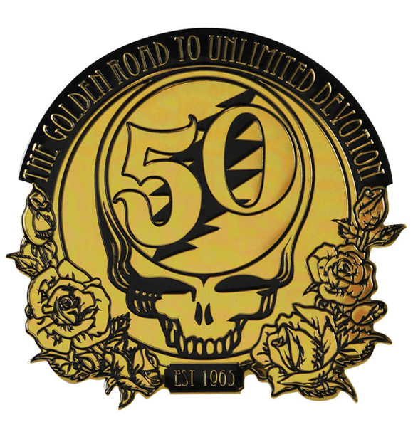 Grateful Dead 50th Anniversary Metal Sticker - Large