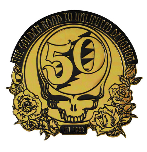 Grateful Dead 50th Anniversary Metal Sticker
