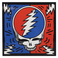 "Grateful Dead Bolted Steal Your Face Sticker - 4""x4"""