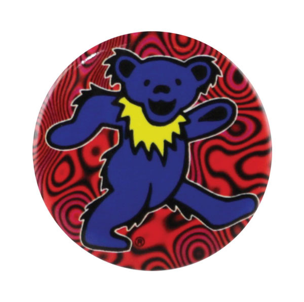 Grateful Dead Dancing Bear Button | Blue