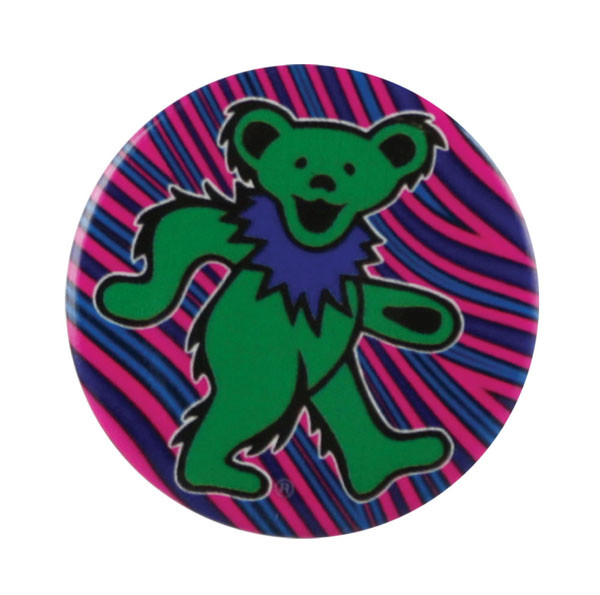 Grateful Dead Dancing Bear Button | Green