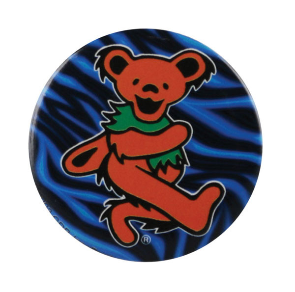 Grateful Dead Dancing Bear Button | Orange