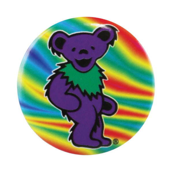 Grateful Dead Dancing Bear Button | Purple