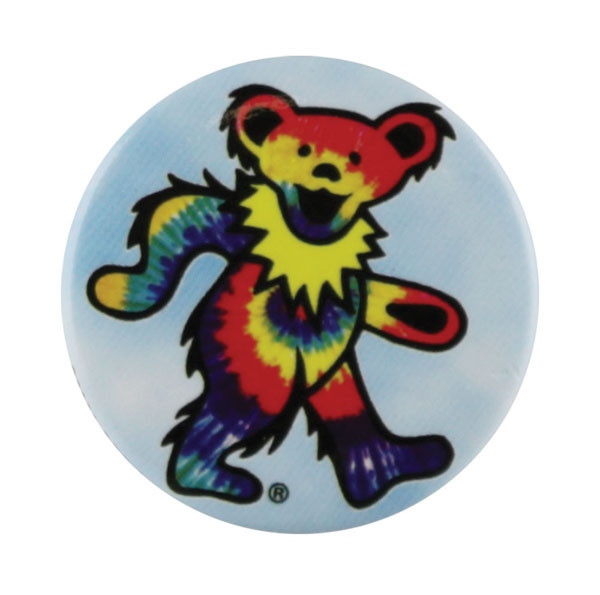Grateful Dead Dancing Bear Button | Tie Dye