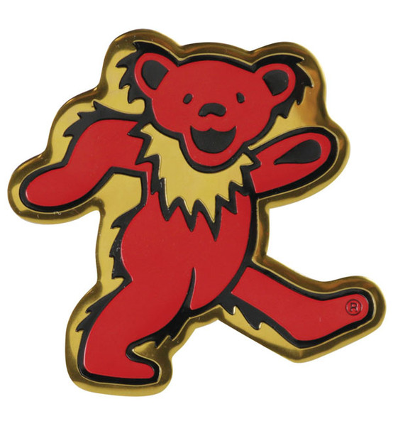 Grateful Dead Dancing Bear Metal Sticker - Large