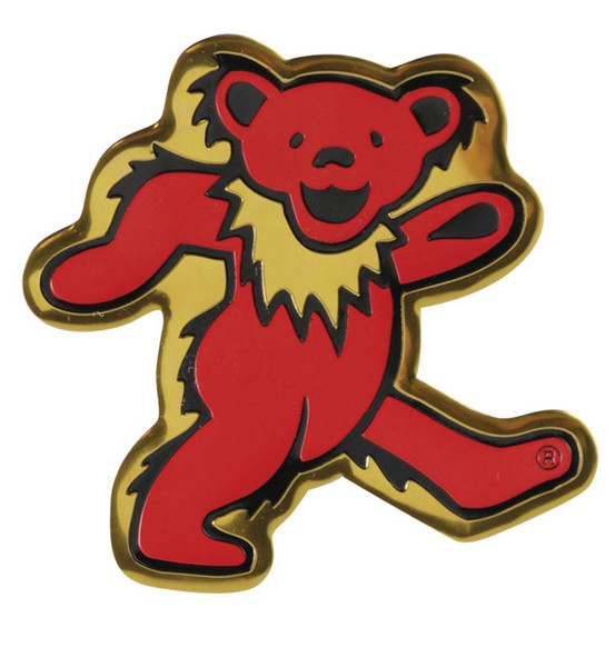 Grateful Dead Dancing Bear Metal Sticker - Small