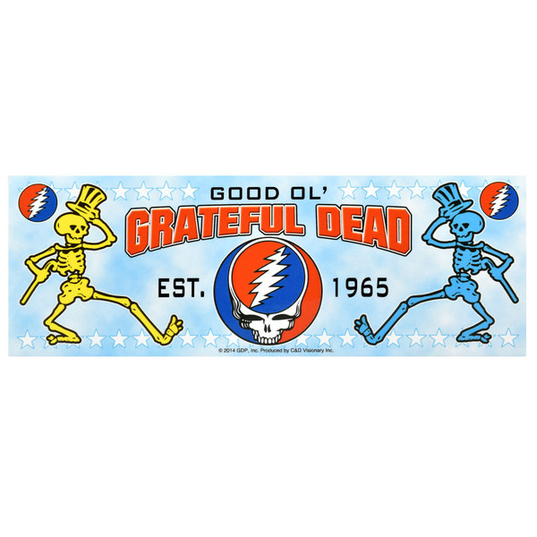 "Grateful Dead Dancing Skeletons Bumper Sticker - 7""x2.5"""