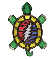 "Grateful Dead Terrapin 13 Point Bolt Patch - 3""x4"""