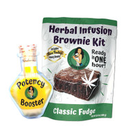 Green queen Herbal Infusion Brownie Kit w/ Potency Booster | Wholesale