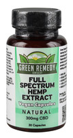 Green Remedy Full Spectrum Hemp Extract Capsules - 30 Capsules / 300mg - AFG Dist
