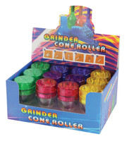 Grinder & Cone Filler - Assorted Colors - 12pc Display