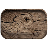 Grindhouse Metal Rolling Tray | Wood Grain | Master Distributor