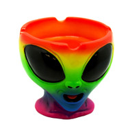 Happy Dayz Rainbow Alien Bust Ashtray | Wholesale Distributor
