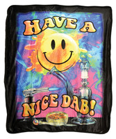"Have a Nice Dab Fleece Blanket - Medium Weight / 50""x60"""