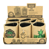 Hemp Neoprene Koozie | Assorted Stoner Designs | Wholesale Distributor
