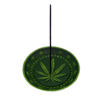 Hemp Leaf Dish Incense Burner | Wholesale Distributor