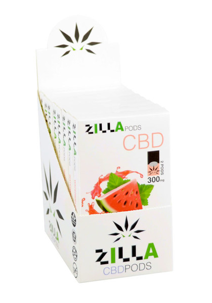 Hempzilla CBD Pods - 300mg | Watermelon | 8 Pack