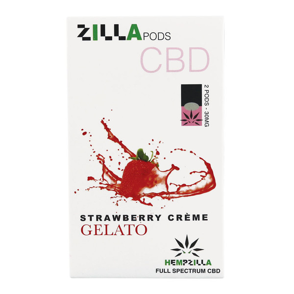 Hempzilla CBD Pods | Strawberry Cream | Master Distributor