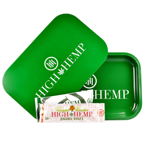 High Hemp Rolling Tray Combo | Green | Wholesale Distributor