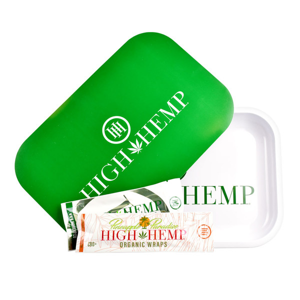 High Hemp Rolling Tray Combo | White | Wholesale Distributor