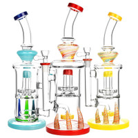 Horned Double Chamber Water Pipe | Wholesale Distributor