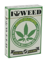 "I Heart Weed Playing Cards - 2.5""x3.5"" - AFG Distribution"