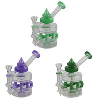 "Inline Glass Rig - 6.25""/ 14mm Female / Assorted Colors"