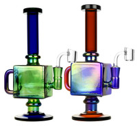 Iridescent Teapot Cube Inline Rig | Wholesale Distributor