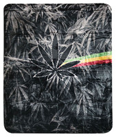 "Irie Rasta Lion Fleece Blanket - Medium Weight / 79"" x 94"""
