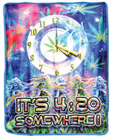 It's 4:20 Somewhere Fleece Blanket - Medium Weight