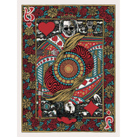 Jerry Garcia King and Joker Card Sticker | Wholesale Distributor