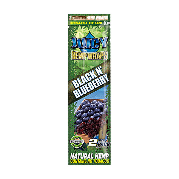 Juicy Hemp Wraps | Black & Blueberry | Wholesale Distributor