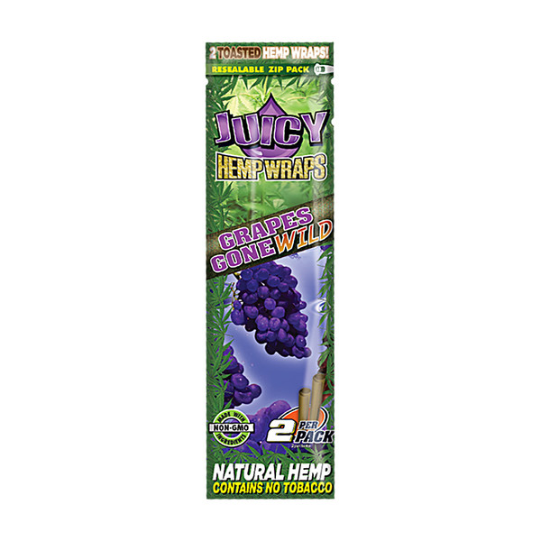 Juicy Hemp Wraps | Grapes Gone Wild | Wholesale Distributor
