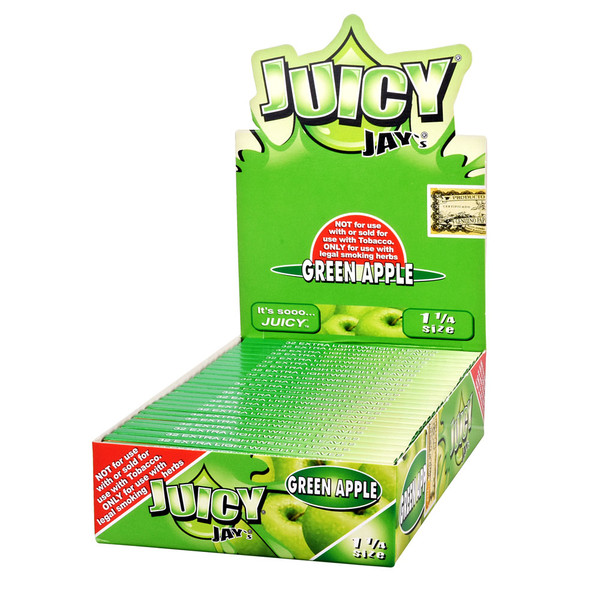 Juicy Jay's 1 1/4 Rolling Papers | Green Apple | Master Distributor