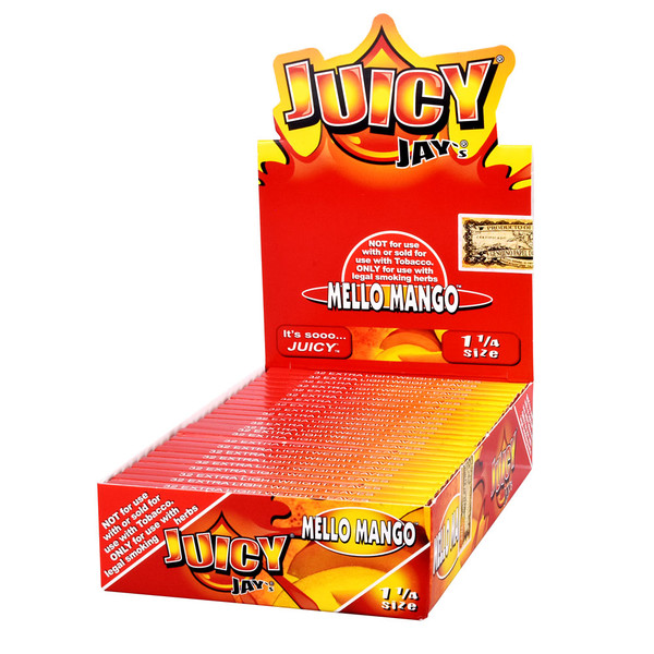 Juicy Jay's 1 1/4 Rolling Papers | Mango | Master Distributor