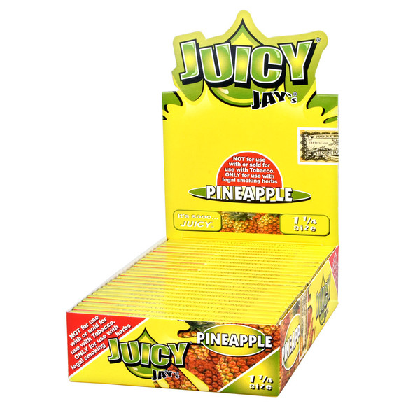 Juicy Jay's 1 1/4 Rolling Papers | Pineapple | Master Distributor