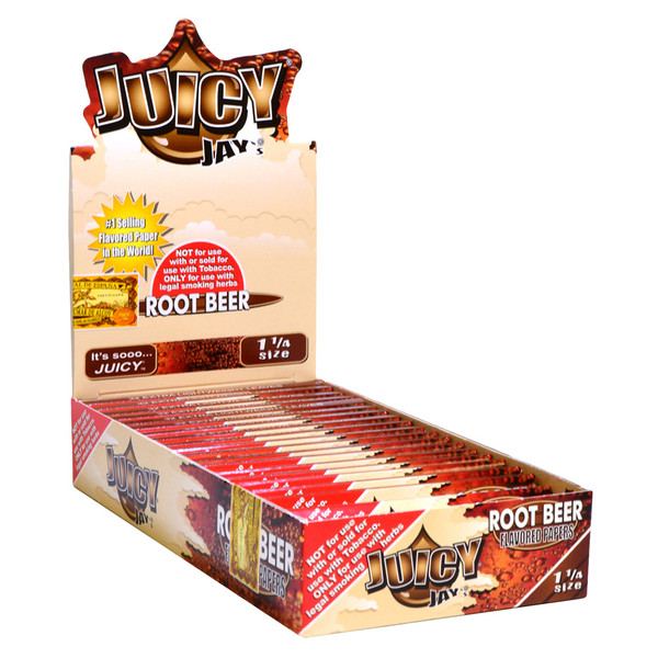 Juicy Jay's 1 1/4 Rolling Papers | Root Beer | Master Distributor