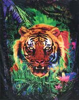 "Jungle Tiger Fleece Blanket - 79"" x 94"""