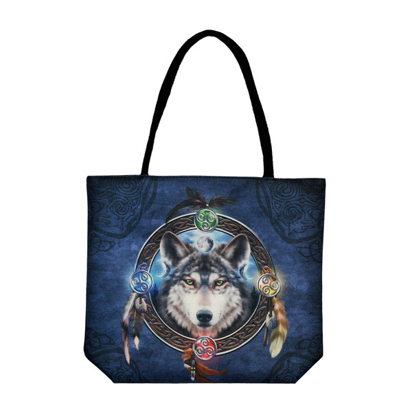 Jute Rope Handled Tote Bag | Celtic Wolf | Wholesale Distributor