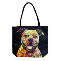 Jute Rope Handled Tote Bag | Trippy Pittie | Wholesale Distributor