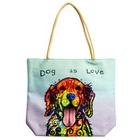 Dog Is Love | Jute Rope Handled Tote Bag | Master Distributor