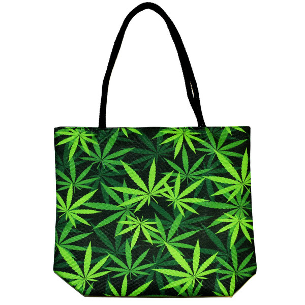 Hemp Leaves | Jute Rope Handled Tote Bag | Master Distributor