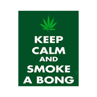 Keep Calm and Smoke Sticker | Wholesale Distributor
